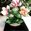 Vintage Italian-Made Capodimonte Floral Accent Piece & Collectible.  6 x 6 x 9.  <b>$45</b>