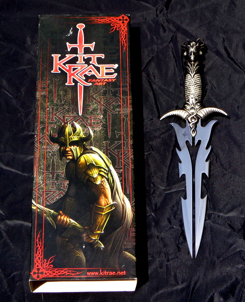 Hard-to-Find <i>Kit Rae</i> Fantasy Art Dagger.  17 x 6.  <b>$85</b>