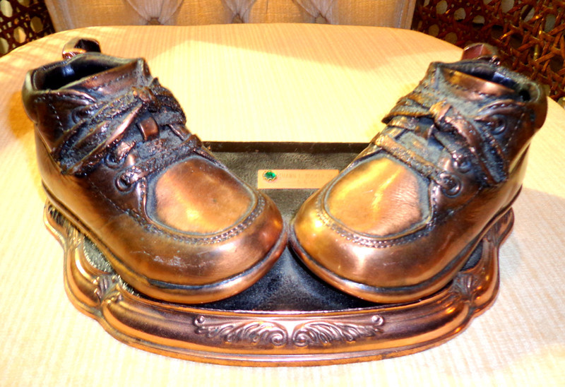 Copper Dipped Baby Shoes on Commemorative Base.  Pretend like their yours and impress your friends.  <b>$30</b>