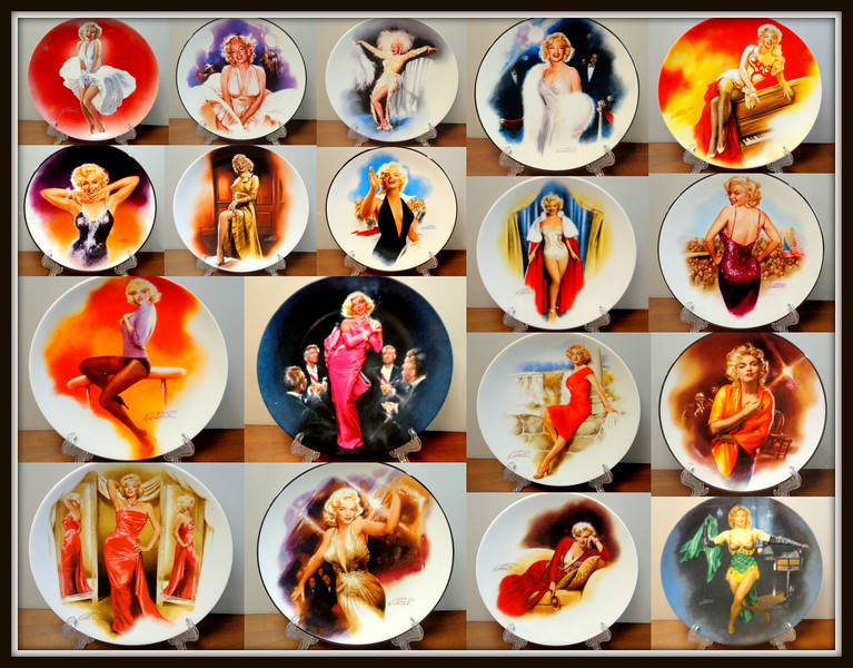 Marilyn Monroe Bradford Exchange Collectors Plates