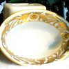 Elegant Serving Bowl Gold Trimmed In Flowers. Made is Japan <b>$20</b>