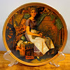"Dreaming in the Attic . Vintage Norman Rockwell Collector's Plate . Decorative Plate Rediscovered Women Collection . Knowles China Second plate in the Reflections of Canadian Childhood collection from Dominion China, Ltd., a series of limited editions honoring Canada's most precious resource, her children. ""A Quiet Moment"" is an original work of art created by renowned Canadian artist Stewart Sherwood. Availability of ""A Quiet Moment"" will be strictly limited by confining its manufacture to a period not to exceed 150 firing days.   <b>$30</b>"