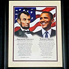 Lincoln and Obama Framed Print