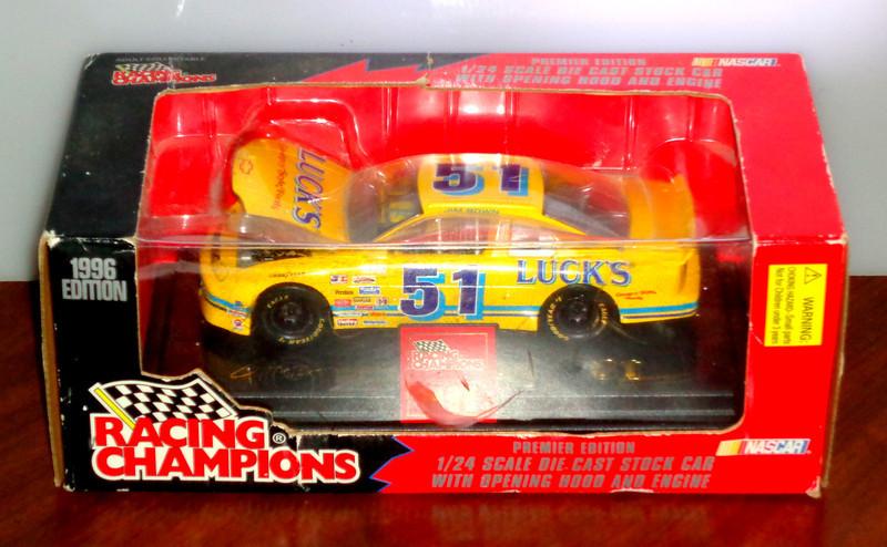 NASCAR Racing Champions 1/24 Scale Oil Cast Stock Car. Lucks # 51 1996.