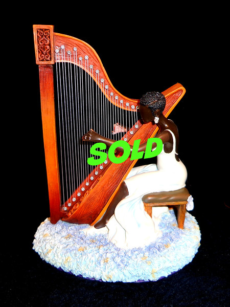 Annie Lee Melody Figurine - New in Original Box - Harp Player.  Never Used.  In Original Box.  Removed from original box for photograph only.  <b>$65</b>