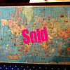Stamp Collector's Dream.   We recently added a new upstairs showroom and now there's room for Fred to empty out items from personal collections acquired from over the years.  This is a totally unique home-made framed Map of the World literally full of vintage stamps from nearly every part of the globe.  Each stamp is positioned on the map in its geo-proximate place of origin. Stamps from WWII Germany to Fiji and everywhere in between.  All the stamps are vintage.  This is a once in a lifetime opportunity to acquire a totally unique piece with an incredibly diverse grouping of vintage stamps.   Must see to fully appreciate. <b>$995</b>