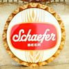 Hard-to-Find Schaefer Beer Aluminum Sign.  19 inch diameter.  <b>$25</b>