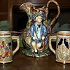 3-Piece Collection Of Hand Crafted Barbra Jones Pitcher & 2 Steins.