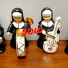 Set of 4 Vintage Lenwile Ardalt Porcelain Musical Nun Figurines.  Appx. 5-Inches Tall. Vintage item from the 1950s.  <b>$35</b>