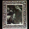 The Godfather ~ Vito & Son Michael Corleone in a Classic Scene From The Original <i>Godfather</i> in Elegant Frame.  12 x14.  <b></b>