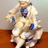 Vintage French Provincial Porcelain Statue.  5 x 4 x 8.  <b>$30</b>