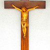 Vintage I.N.R.I. Jesus Crucifix Wood Metal Cross.  18 x 22.  <b>$30</b>