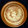 <i>Bradex - To A Skylark</i>  Unique vintage solid incolay stone carved plate with beautiful relief image. This one is plate number 10146. It's called She Walks in Beauty John Keats and sculpture is by Gayle Bright Appleby. This is the second in the series of limited edition plates from the Romantic Poets that was closed in 1978. Made by the Incolay Studios in California.  It's about 10 1/4 inches wide and in mint shape with no cracks or chips. Heavy plate.  In wood frame.  <b>$40</b>