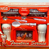 New!!  Coca Cola Coke Fountain Service Gift Set. 16 x 4 1/2 x 13.  <b>$20</b>