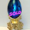 Signed Vandermark Art Glass Iridescent Egg