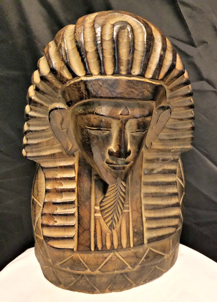 Vintage Carved Wood Wooden King Tut