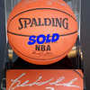 Detroit Pistons Super Star Legend <i>Ben Wallace</i> Signed Basketball in Display Case in Excellent Condition.  <b>$195</b>