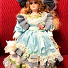 J.A. Designs 19-inch Porcelain Doll in Like New Condition.  <b>$40</b>
