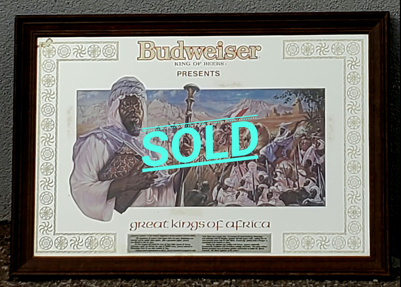Budweiser Great Kings of Africa Mirror