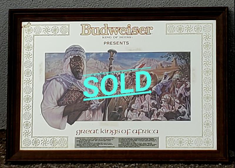 Budweiser Great Kings of Africa Mirror