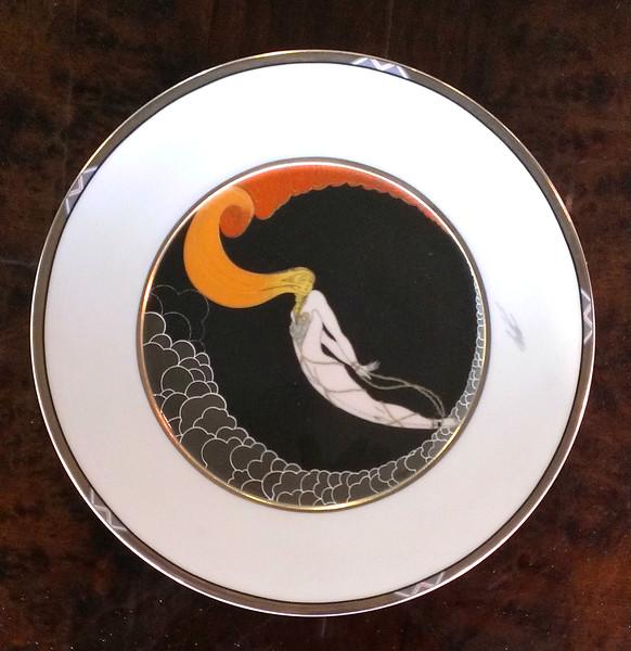 <i>Mikasa Erte - L'Amour </i> Fine Bone China Collector Plate.  12 1/2 inch dinner plate.