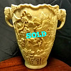 Antique Asian Carved Faux Ivory Vase