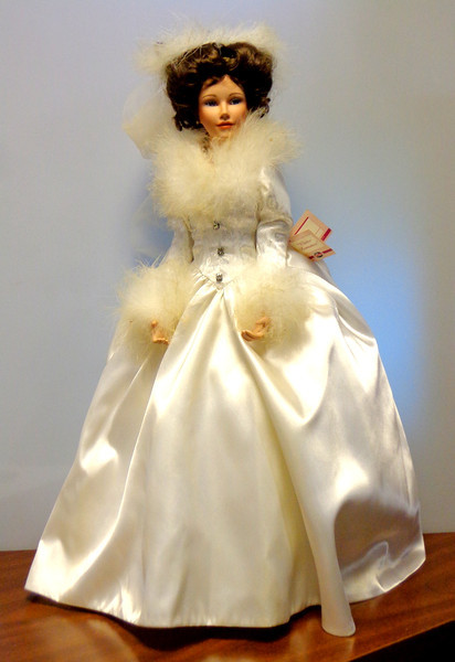 """Ashton Drake Galleries Winter Romance Porcelain Doll ~ First in the """"<i>She Walks in Beauty</i>"""" Collection.  Well maintained in original box.  <b>$85</b>"""