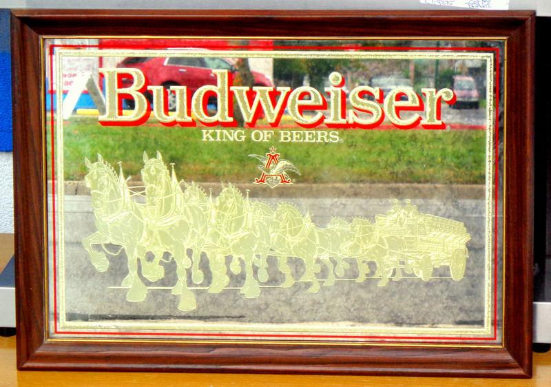 Budweiser Collectible Wall Mirror.  21 x 18.  <b>$40</b>