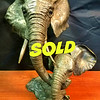 Fabulous 100% Bronze Elephant Bust Figurine Feng Shui Statue Sculptures Elephant Double Heads.  This is a truly showstopping, ultra-premium, accent piece to adorn your mantle or desktop.  Elephants have an ancient tradition for being a symbol of good luck and no where is this more exemplified than by this rare and unique brass sculpture.  It features remarkable attention to detail and is also in like new condition. Once you see this piece, you'll be convinced that it must be yours. 15 x 12 x 16. <i>You'll pay nearly $700 to find anything like it anywhere else if you could find it.</i>  <b>Fred's Price: $295</b>