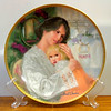 "Knowles William Chambers ""Mother's Here"" 1st issue Ltd. Ed. Collector Plate.  First issue Limited Edition Collector Plate of Portraits of Motherhood series. Produced under the hallmark of the Edwin M. Knowles China Company in a firing period strictly limited to 150 days. Plate No. 4118C.  Bradex No. 84-K41-44.1. 8.5"" Diameter. 1987. Art object, not for use with food.  Plate Only.  <b>$20</b>"