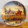 "Knowles Plate 1985 ""Surrey with Fringe on Top Collector's Plate.""  By Mort Kunstler.  Diameter: 8 1/2 Inches.  Second issue in the Oklahoma Series Plates by Knowles.  Plate is numbered 7639C.  <b>$20</b>"