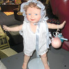 Porcelain Birthday Baby Doll. With Stand And A Great Big Smile.  <b>$30</b>