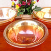 Set of 3 Vintage Iridescent Marigold Carnival Glass Serving Mixing Bowls.  True collector's item.  Here is your chance to get the complete set of 3 vintage carnival glass serving bowls.  These elegant glass bowls are in excellent condition.  The set includes 12-inch, 11-inch & 10-inch bowls.  <b>$125</b>
