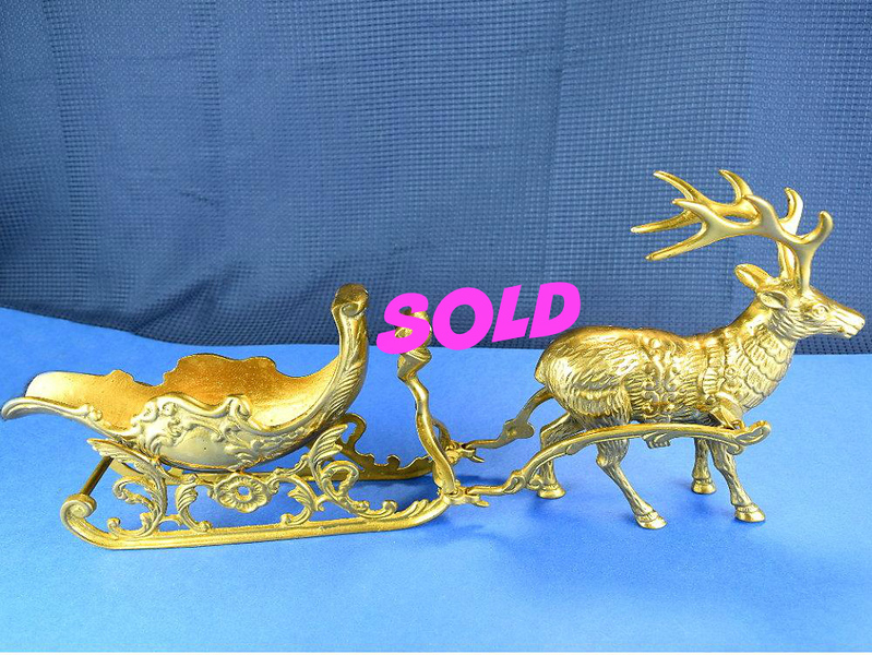 Brass Santa Sleigh