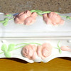 Porcelain Rose-Adorned Porcelain Jewelry Box.  9 x 4 x 5.  <b>$20</b>