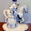 Vintage French Provincial Porcelain Statue.  8 x 5 x 9.  <b>$40</b>