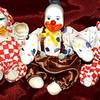 3 Happy Little Hand Painted Porcelain Clowns. <b> $25 </b>