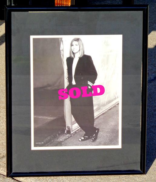 Classic Barbara Streisand Framed Art.  17 x 22.  <b>$35</b>