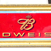 Colorful Budweiser Pub Wall Mirror.  42 x 15.  <b>$65</b>