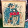 Joe Namath Framed Print Signed By LeRoy Nieman