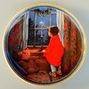 Vintage Knowles Christmas Plate. 1986 Limited Edition This plate is the third issue in the Jessie Wilcox Smith Childhood Holiday Memories series depicting holidays as seen through the eyes and heart of a child. Plate No. 16442 B. Plate only.  Manufacturer - Edwin M Knowles. Bradex No. 84-K41-22.3.  Material - Fine China. Condition - Excellent Used Vintage Condition. There are no chips, cracks or repairs noted. Size - This colorful collector's plate measures about 8 1/2 inches in diameter.  Age - 1986.  <b>$35</b>