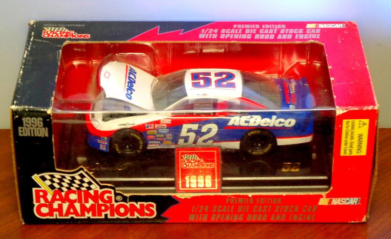 NASCAR Racing Champions 1/24 Scale Oil Cast Stock Car. AC Delco #52 1996.<b>$30</b>