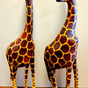Set of 2 Hand-Carved Grace Solid Wood African Giraffes.  3 1/2 x 13.  <b>$85 for the set.</b>