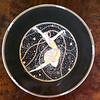 <i>Mikasa Erte - Ondee</i> Fine Bone China Collector Plate.  12 1/2 inch dinner plate.