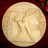 Vintage1978 La Scala Grand Opera Alabaster 3-D Madame Butterfly Plate.  8 1/2 inches.  <b>$20</b>