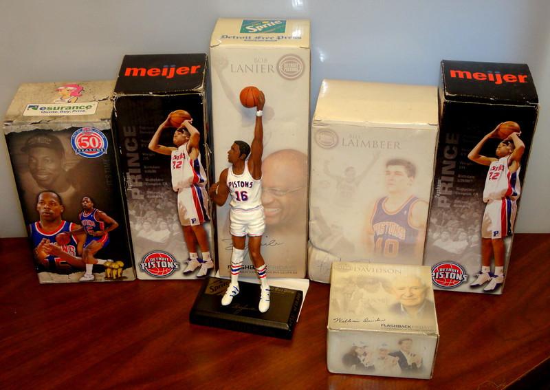 Assortment Of Detroit Pistons Flashback Fridays Legends.  Bill Laimbeer, Bob Lanier & Tayshaun Prince.  <b>$12 each</b>