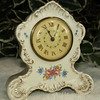 Porcelain Ladies Desk Wind Up Clock.  Good working condition.  6 x 7.  <b>$25</b>