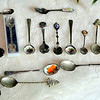 Assortment of Collectible Teaspoons at Fred's Unique Upstairs Boutique ~ Many more available than shown.  <b>$5 to $10.</b>