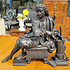 Denis Papin Bronzed Spelter Table Statue