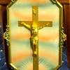 Beautiful Crucifix in Colorful Ornate Frame.  12 x 20.  <b></b>
